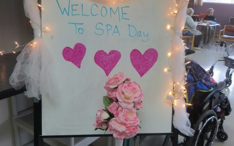 Spa Day sign